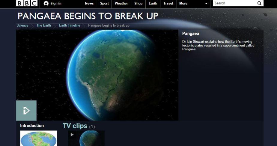 Pangea Begins to Break Up